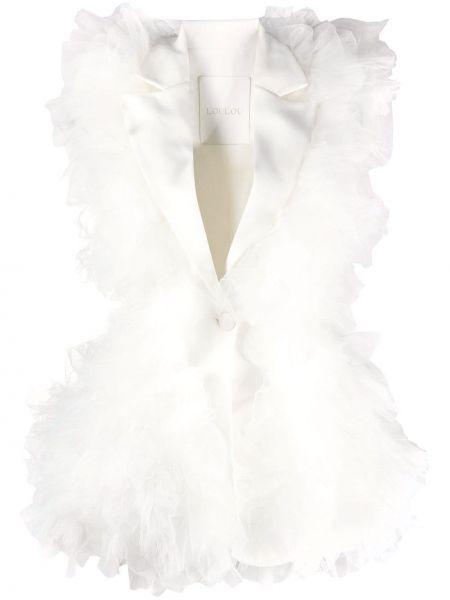 Белый пиджак без рукавов с воротником Loulou