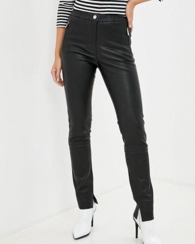 Кожаные черные брюки Oakwood