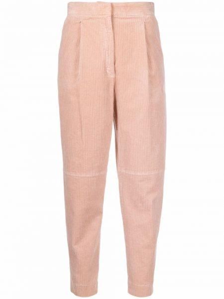 Розовые укороченные брюки Antonelli