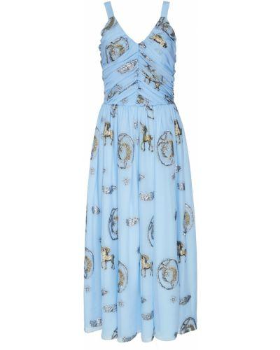 Шелковое платье - голубое Alena Akhmadullina