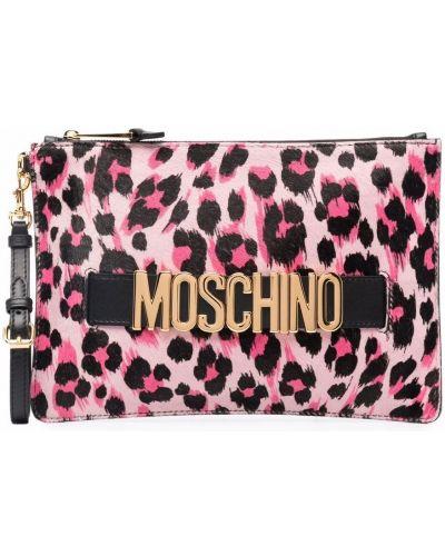Złota kopertówka - czarna Moschino