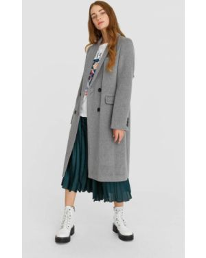 Длинное пальто шерстяное пальто Stradivarius