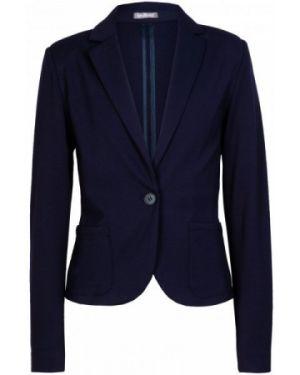 Классический пиджак трикотажный синий Gulliver Wear