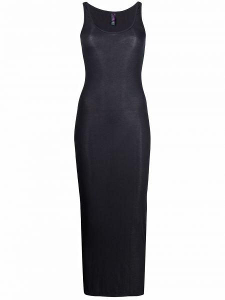 Приталенное серое платье макси без рукавов Maison Close