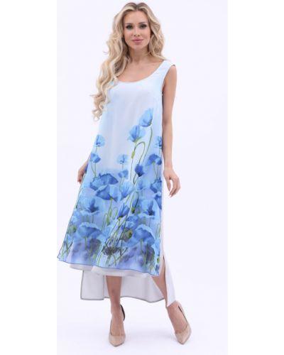 Голубое платье с вырезом Wisell