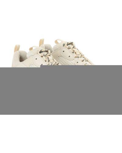 Sztuczny beżowy włókienniczy sneakersy Balenciaga