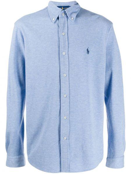 Koszula z długim rękawem długa niebieski Ralph Lauren