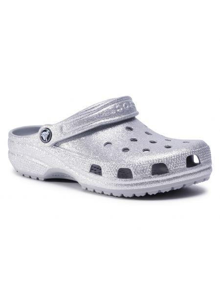 Chodaki, srebro Crocs