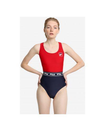 Облегающий красный купальник Fila