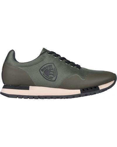 Кожаные кроссовки - зеленые Blauer