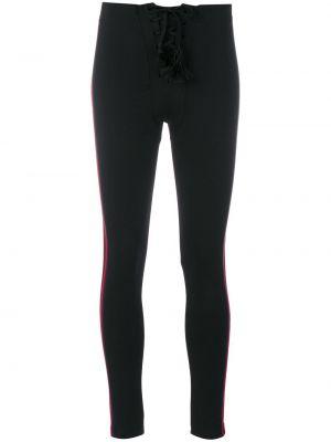 Нейлоновые черные брюки с нашивками узкого кроя Yeezy