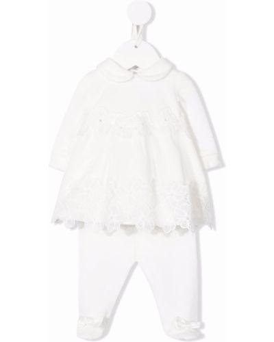 Biały dres bawełniany Colorichiari