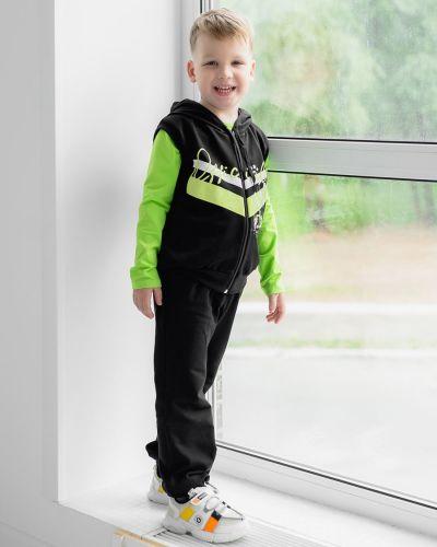 Хлопковый спортивный костюм с карманами на молнии Looklie