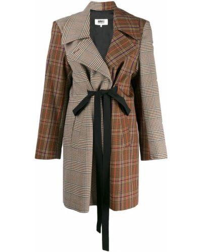 Пальто пэчворк с карманами Mm6 Maison Margiela