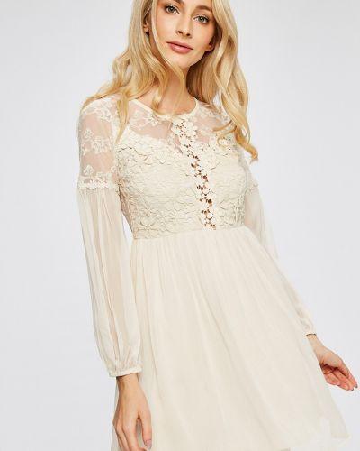 Платье мини с длинными рукавами с вырезом Answear