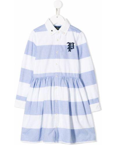 Платье с рукавами в полоску длинное Ralph Lauren Kids
