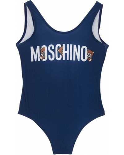 Открытый слитный купальник с открытой спиной Moschino