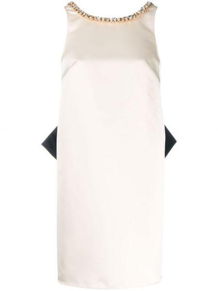 Расклешенное платье мини с вырезом без рукавов Elisabetta Franchi