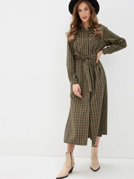 Платье платье-рубашка зеленый Fashion.love.story