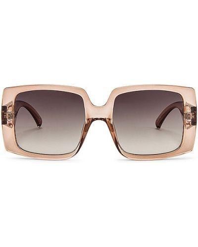 Beżowe okulary vintage Le Specs