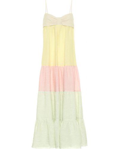 Желтое льняное платье макси Lisa Marie Fernandez