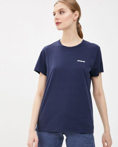 Синяя футболка Patagonia