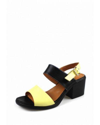 Желтые босоножки на каблуке Blizzarini