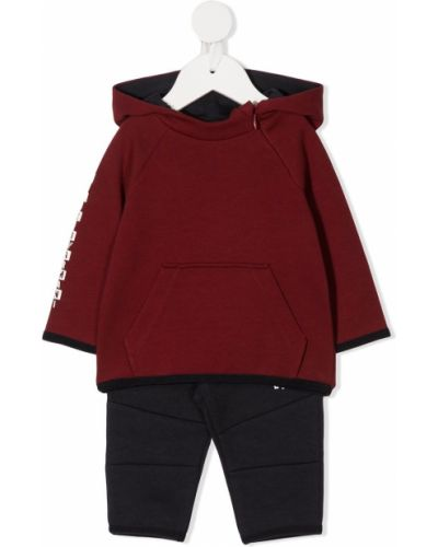 Klasyczny czerwony garnitur bawełniany Emporio Armani Kids