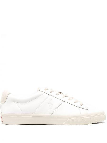 Белый ажурный топ на шнуровке с вышивкой Polo Ralph Lauren