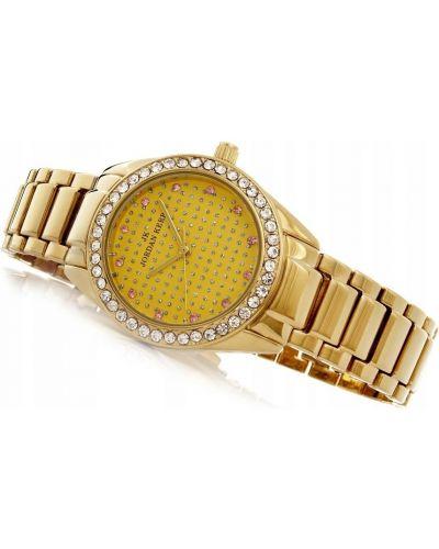 Żółty klasyczny zegarek z cyrkoniami Jordan Kerr