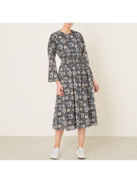 Плиссированное платье со складками с рисунком с вырезом Laurence Bras