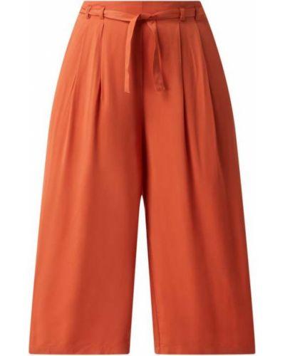 Pomarańczowe spodnie z wiązaniami Vila
