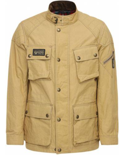 Pikowana kurtka z kieszeniami z mankietami zabytkowe khaki Belstaff