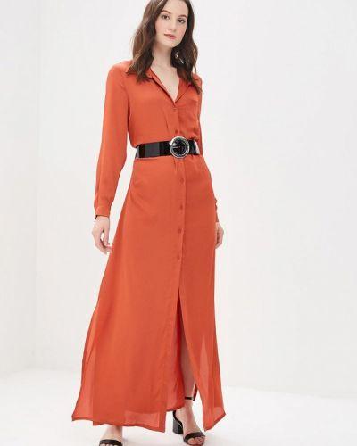 Оранжевое платье прямое Miss Miss By Valentina