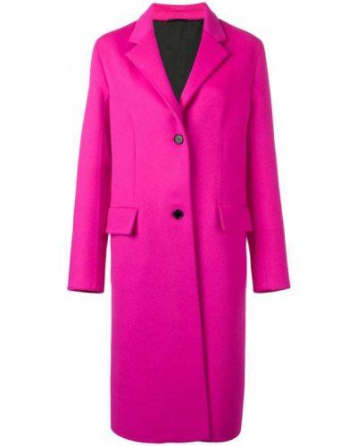 Однобортное розовое пальто классическое с капюшоном Calvin Klein 205w39nyc