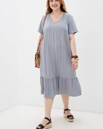 Серое весеннее платье Zizzi