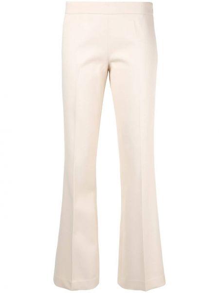 Хлопковые расклешенные розовые брюки Giambattista Valli