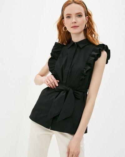 Черная блузка с оборками Blauz