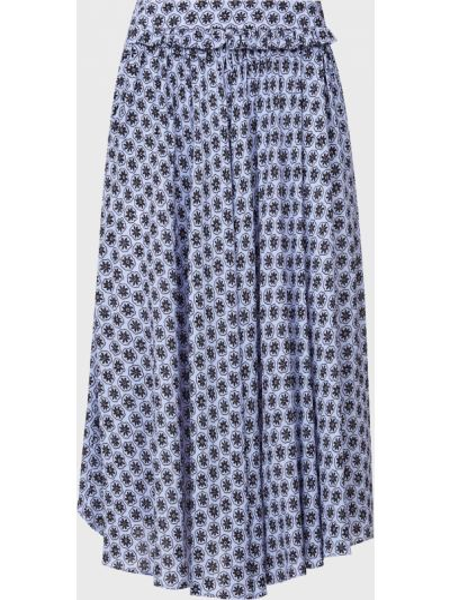 Синяя юбка из вискозы Bagutta