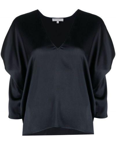 Шелковая блузка с короткими рукавами с вырезом Antonelli
