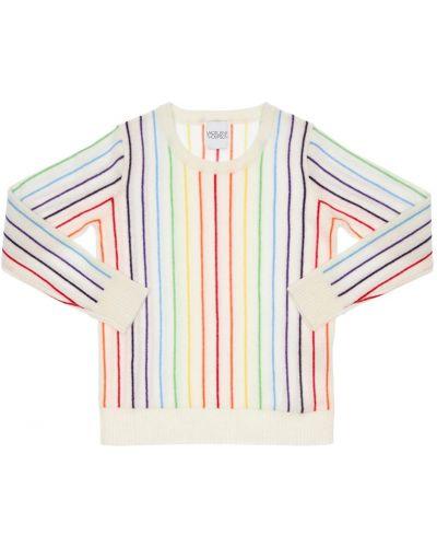 Кашемировая белая свитер с вырезом Madeleine Thompson