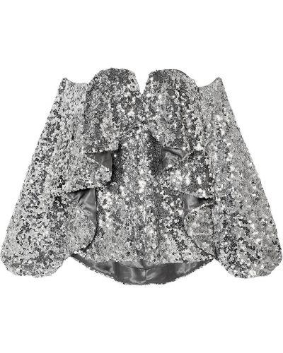 Top z cekinami srebrny Halpern