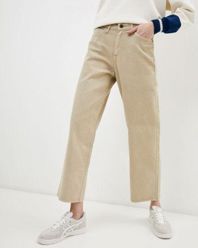 Повседневные бежевые брюки Lee