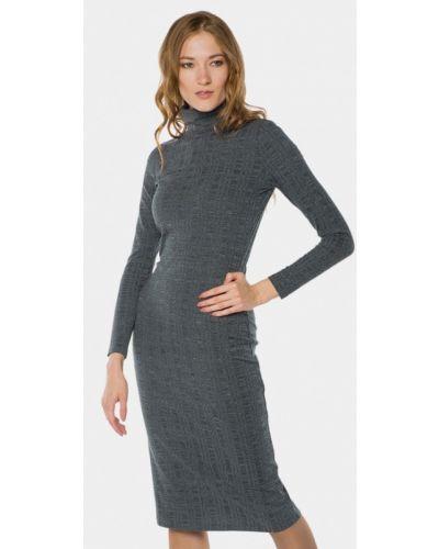 Платье осеннее зеленый Mr520
