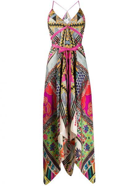 Шелковое платье - розовое Etro