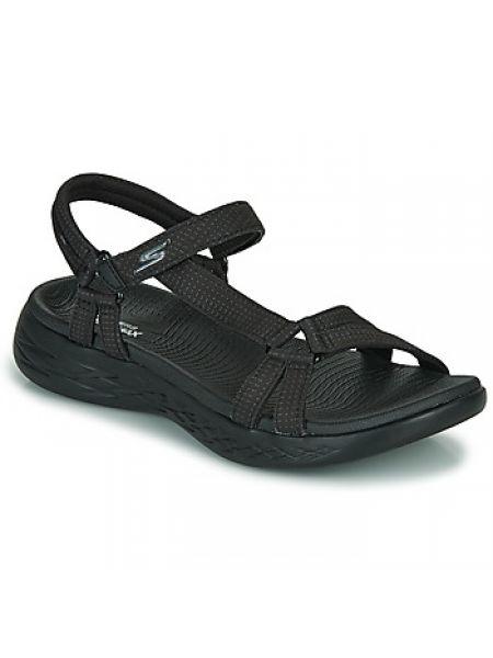 Czarne sandały sportowe Skechers