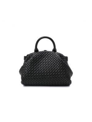 Черный кожаный топ Bottega Veneta