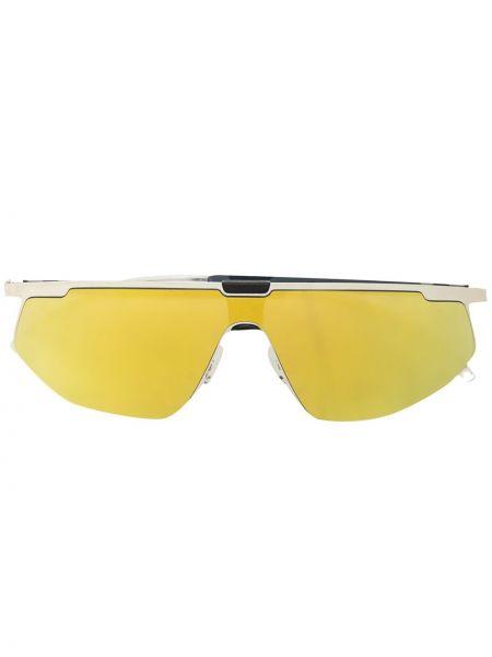 Okulary przeciwsłoneczne żółty srebro Mykita