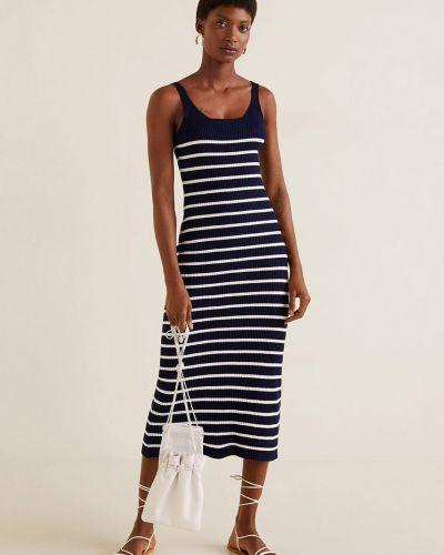 Платье мини трикотажное с поясом Mango