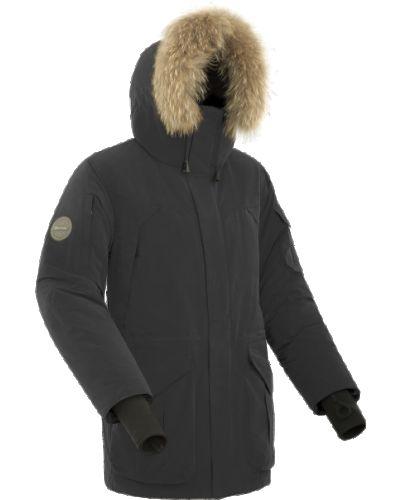Городская черная кожаная куртка Bask